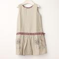 【在庫処分セール60%OFF】POPPY(ポピー) ジャンバスカート Emily  リネンXパープル 3才-4才【送料無料】