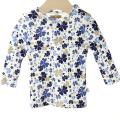 【在庫処分セール50%OFF】(春夏)HOLLY'S(ホリーズ)  Baby T-shirt L/S 長袖Tシャツ ブルー 68cm/6M 【おまかせ配送で送料お得】