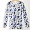 【在庫処分セール50%OFF】HOLLY'S   Junior T-shirts L/S 長袖Tシャツ ブルー 110cm/3-4才 【おまかせ配送で送料お得】