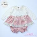 【2021awご予約商品】Souris(スーリー) 【610】接結切替ミルキースーツ \4,900 80cm  90cm