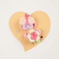 Souris(スーリー) お花とちょうちょポニー2個セット ピンク Free     【おまかせ配送で送料お得】  ◆