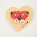 Souris(スーリー) 葉っぱ付きお花ポニー2個セット 濃ピンク Free     【おまかせ配送で送料お得】  ◆