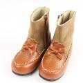 【セール15%OFF】Souris(スーリー) 合皮スウェードコンビブーツ ブラウン 15cm 16cm 17cm 18cm 19cm