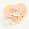 Souris(スーリー) お花モチーフチュールリボンポニー2個セット 濃ピンク Free     【おまかせ配送で送料お得】◆