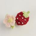 Souris(スーリー) 苺フラワーポニー2個セット オフシロ Free     【おまかせ配送で送料お得】◆
