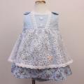【セール20%OFF】(春夏)Souris(スーリー) クラシックフラワーPTミルキースーツ ブルー 80cm   90cm