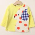 【在庫処分セール50%OFF】(秋冬)baby Cheer(ベイビーチア) 水玉DOG長袖Tシャツ ライム 80cm 90cm 100cm