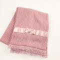 【新春セール】Le Cou Cou(ル・クク) リボン&お花マフラー ピンク FREE