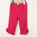 【新春セール】Le Cou Cou(ル・クク) 裾フリル付パンツ ピンク XS(80cm-96cm) S(96cm-110cm)   【おまかせ配送で送料お得】
