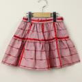 【在庫処分セール50%OFF】Le Cou Cou(ル・クク) リボン柄リボンスカート レッド XS(80cm-96cm)     【送料無料】