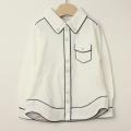 【セール30%OFF】Le Cou Cou(ル・クク) 鹿の子長袖シャツ ホワイト S(96cm-110cm)