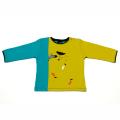 【在庫処分セール50%OFF】Rose pour les garcons 長袖Tシャツ しまうま Zig Zag zoung 黄Xブルー 18M/1.5才 【おまかせ配送で送料お得】