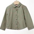 【在庫処分セール50%OFF】ROOM SEVEN  Basha blouse 4423 長袖ブラウス 花 カーキ 74cm 【おまかせ配送で送料お得】