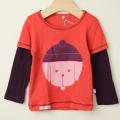 【在庫処分セール60%OFF】stun(スタン) 帽子犬プリント長袖Tシャツ レッド 2才 3才 4才   【おまかせ配送で送料お得】