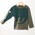 【在庫処分セール60%OFF】UBANG(アヴァン) BabblechatCrocodile tee 長袖Tシャツ ワニ カーキ 12M(1才)