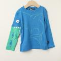 【在庫処分セール60%OFF】UBANG(アヴァン)長袖Tシャツ さめ blue water ブルー 2才 3才 【おまかせ配送で送料お得】