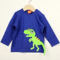 【在庫処分セール50%OFF】(秋冬)LIPFISH (リップフィッシュ) 長袖Tシャツ T-Rex Marine 恐竜青色 86cm-92cm 98cm    【おまかせ配送で送料お得】