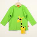 【在庫処分セール50%OFF】LIPFISH (リップフィッシュ) 長袖Tシャツ Giraffe Leaf green キリン黄緑色 86cm-92cm 98cm    【おまかせ配送で送料お得】