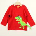 【在庫処分セール50%OFF】(秋冬)LIPFISH (リップフィッシュ) 長袖Tシャツ T-Rex Red 恐竜赤色 86cm-92cm  98cm    【おまかせ配送で送料お得】