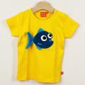【在庫処分セール50%OFF】LIPFISH (リップフィッシュ) 半袖Tシャツ Pinraha Saffron さかなイエロー 86cm-92cm 98cm   【おまかせ配送で送料お得】