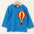【セール30%OFF】LIPFISH (リップフィッシュ) 気球長袖Tシャツ Blue Air Baloon ブルー 86cm-92cm 98cm    【おまかせ配送で送料お得】