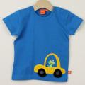 【在庫処分セール50%OFF】(春夏)LIPFISH (リップフィッシュ) Blue Car 半袖Tシャツ 車 青 86cm-92cm 98cm    【おまかせ配送で送料お得】