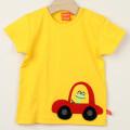 【在庫処分セール50%OFF】(春夏)LIPFISH (リップフィッシュ) Yellow Car 半袖Tシャツ 車 きいろ 86cm-92cm 98cm    【おまかせ配送で送料お得】