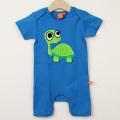 【在庫処分セール50%OFF】(春夏)LIPFISH (リップフィッシュ) Blue Turtle ジャンプスーツ かめ 青 80cm      【おまかせ配送で送料お得】