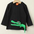 【セール20%OFF】LIPFISH (リップフィッシュ) Black Crocodile 長袖Tシャツ ワニ ブラック 86cm-92cm 98cm 【おまかせ配送で送料お得】