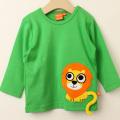 【セール20%OFF】LIPFISH (リップフィッシュ) Green Lion 長袖Tシャツ ライオン グリーン 86cm-92cm 98cm 【おまかせ配送で送料お得】