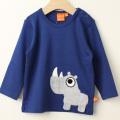 【セール30%OFF】LIPFISH (リップフィッシュ) Dark Blue Rhino 長袖Tシャツ サイ ネイビー 86cm-92cm 98cm  【おまかせ配送で送料お得】