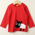 【セール20%OFF】LIPFISH (リップフィッシュ) Red sheep 長袖Tシャツ ひつじ レッド 86cm-92cm 98cm  【おまかせ配送で送料お得】