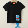 【在庫処分セール50%OFF】(春夏)LIPFISH (リップフィッシュ) shark 半袖Tシャツ ブラック 86cm-92cm 98cm    【おまかせ配送で送料お得】