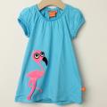 【セール30%OFF】LIPFISH (リップフィッシュ) flamingo半袖ワンピース ブルー 74cm-80cm 86cm-92cm