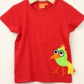 【新春セール】LIPFISH (リップフィッシュ) red bird tshirt バード半袖Tシャツ レッド 86cm-92cm 98cm    【おまかせ配送で送料お得】