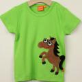 【在庫処分セール50%OFF】(春夏)LIPFISH (リップフィッシュ) apple green horse tshirt 馬半袖Tシャツ グリーン 86cm-92cm 98cm    【おまかせ配送で送料お得】