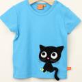 【セール10%OFF】LIPFISH (リップフィッシュ) turquoise kitten tshirt 猫半袖Tシャツ ターコイズ 86cm-92cm 98cm    【おまかせ配送で送料お得】
