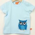 【セール10%OFF】LIPFISH (リップフィッシュ) lignt blue owl tshirt ふくろう半袖Tシャツ ライトブルー 86cm-92cm 98cm    【おまかせ配送で送料お得】
