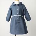 【在庫処分セール60%OFF】Je suis en CP!(ジュスイオンセーペー) Flap dress blue wool ブルー 3才