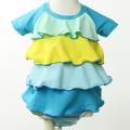 【在庫処分セール50%OFF】(春夏)LaLa Dress (ララドレス) ヒラヒラ水着 ライトブルー 90cm【おまかせ配送で送料お得】