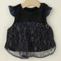 【在庫処分セール50%OFF】LaLa Dress (ララドレス) プレミアム赤ちゃんベスト ネイビーレース M(70cm‐80cm)