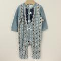 【セール20%OFF】LaLa Dress (ララドレス) フィスロンパース フラワーブルー 80cm 【送料無料】