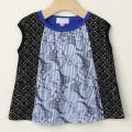 【セール30%OFF】LaLa Dress (ララドレス) リス柄ノースリーブシャツ ブルー 100cm 110cm   【おまかせ配送で送料お得】