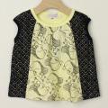 【セール30%OFF】LaLa Dress (ララドレス) リス柄ノースリーブシャツ イエロー 100cm 110cm   【おまかせ配送で送料お得】
