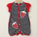 【在庫処分セール50%OFF】LaLa Dress (ララドレス) イチゴ刺繍ロンパースギフトボックス レッド 80cm