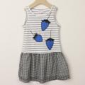 【在庫処分セール50%OFF】LaLa Dress (ララドレス) ユヌフレーズワンピース グレー 100cm 110cm