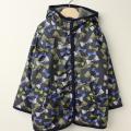 【セール15%OFF】LaLa Dress (ララドレス) 宝石リボンのフード付きリバーシブルコート ネイビー 110cm 120cm    【送料無料】
