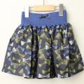 【セール15%OFF】LaLa Dress (ララドレス) リボン柄タフタスカート ネイビー 110cm 120cm    【送料無料】