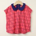 【セール30%OFF】LaLa Dress (ララドレス) フラミンゴ柄丸襟カットソー ピンク 110cm 120cm