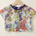 【セール15%OFF】LaLa Dress (ララドレス) 花柄ショートカットソー オフホワイト 110cm 120cm    【おまかせ配送で送料お得】